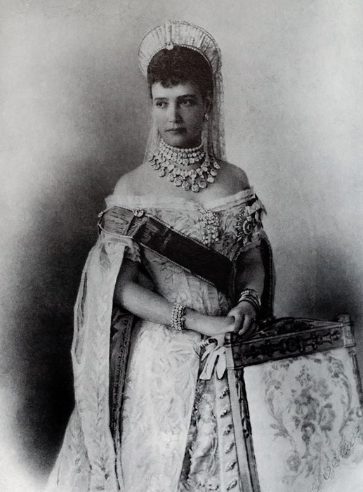 Portrait of Russian Empress Maria Feodorovna, Romanov Royal Family