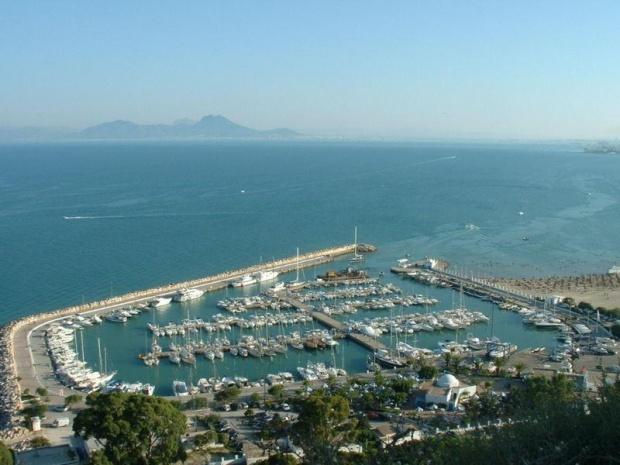 Le port de plaisance de Sidi Bou Saïd
