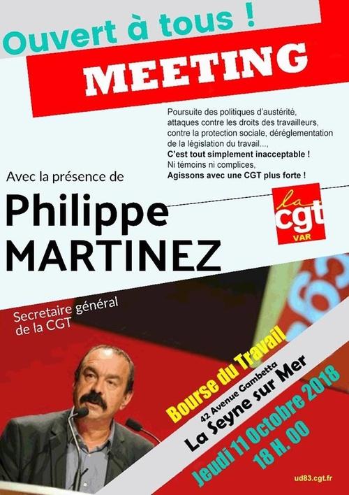 Meeting à la Seyne, Bourse du Travail, le 11 Octobre