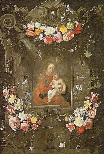 Guirlande de fleurs et Vierge à l'Enfant de Daniel Seghers
