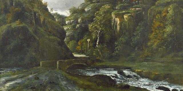 Détail de « Paysage du Jura » de Gustave Courbet 1862-1872. propriété du canton du Jura