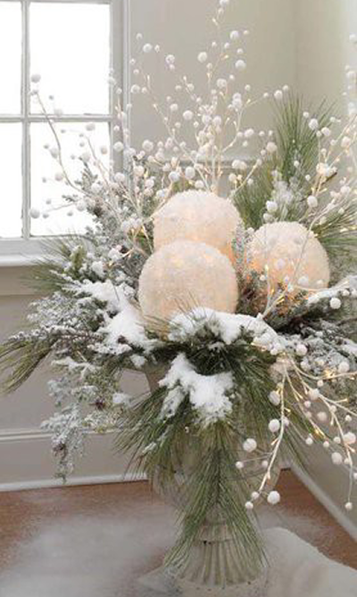 Id e d co no l les bouquets d co en nuances - Idee decoration de noel exterieur ...