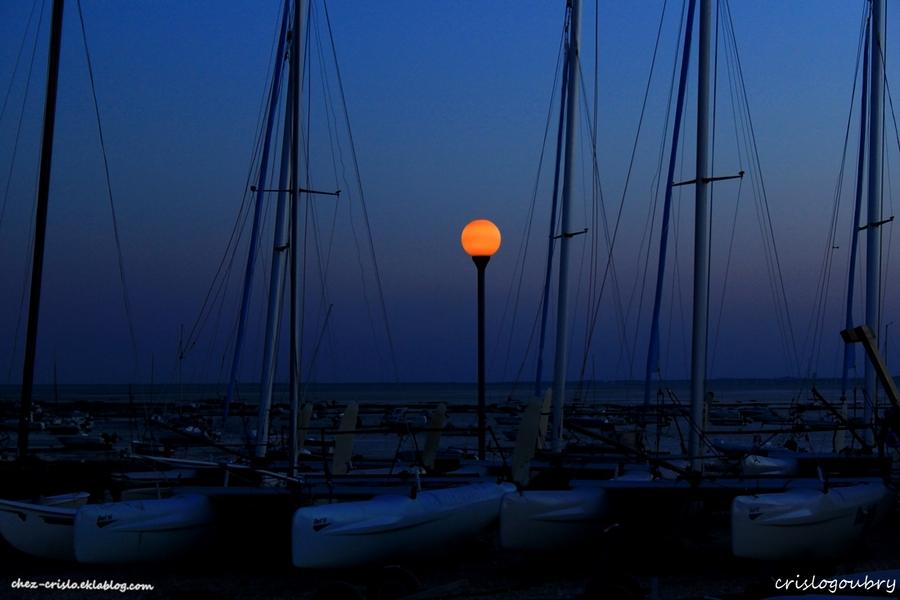 Coucher de soleil à Ares