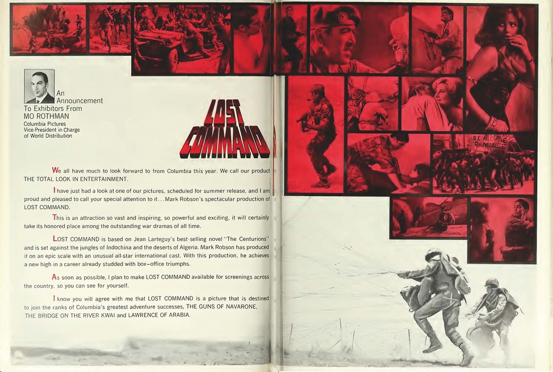THE LOST COMMAND BOX OFFICE USA 1966