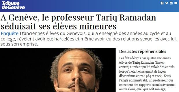Tariq Ramadan le PREDICATEUR VIOLEUR enfin en taule.