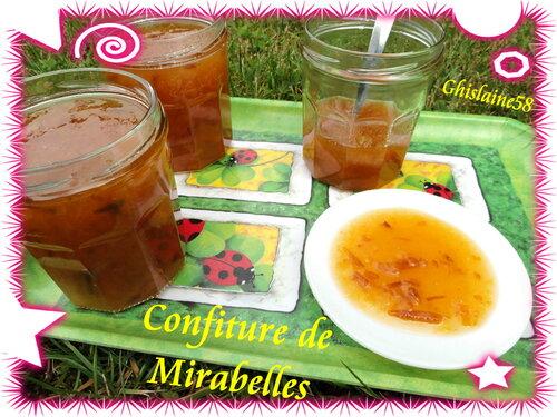 Confiture de Mirabelles