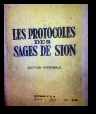⇒Les «Protocoles des Sages de Sion» ou « Le Manifeste des 72 » (Partie I)