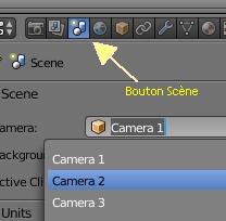 Cliquer sur le bouton Scène pour changer de caméra
