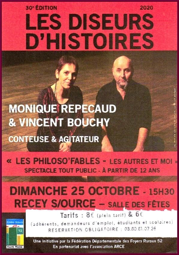 """Les Diseurs d'Histoires présentent """"Les philoso'fables"""" à Recey sur Ource, sous l'égide de l'association ARCE"""