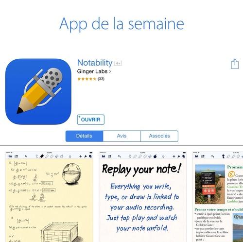 [appli] Notability : une appli à ne pas râter