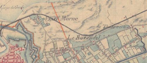 Rosendaël - Carte de l'état-major 1820-1866 (geoportail.gouv.fr)