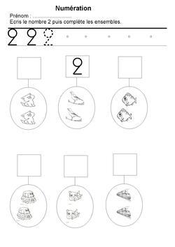Maternelle : les nombres de 1 à 5
