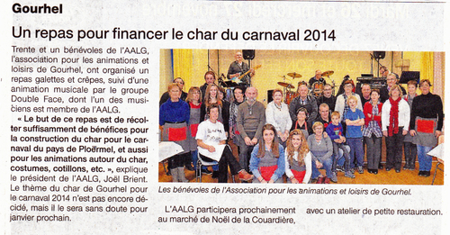 Article de Ouest France du 21 novembre 2013