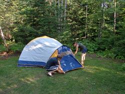 Montage de tente : check !