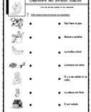 Lire des phrases simples, comprendre, lecture Cp