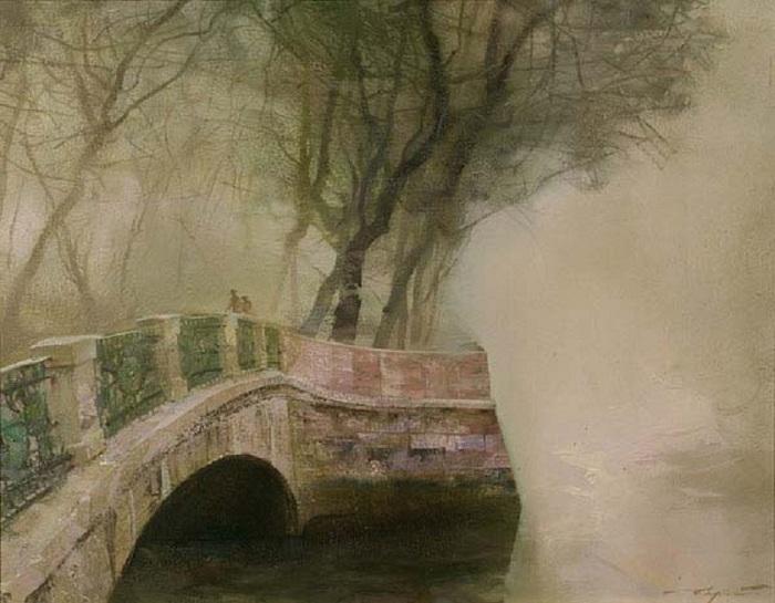 Le pont d'ingénierie.  Auteur: Sergey Sidelev.