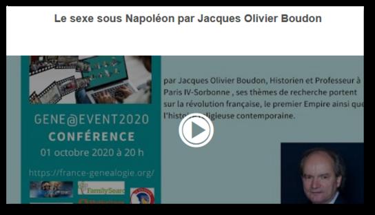 Gene@event2020 Le sexe sous Napoleon