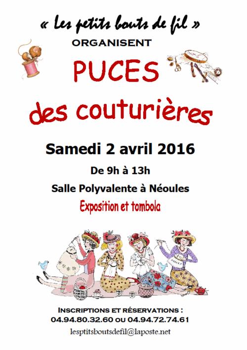 Puces des couturières à Néoules le 25 avril 2015