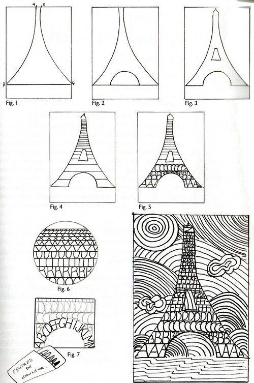 """Vu sur Pinterest : """"La tour Eiffel alphabétique"""""""