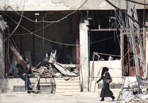 Une rue d'Arbeen, banlieue rebelle de Damas, le 17 décembre 2014 (AFP / Abd Doumany)