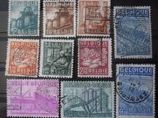 Timbres de Belgique - série exportations 1948