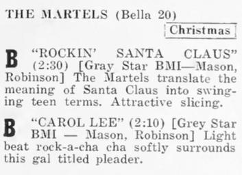 Eulis Mason & The Martells