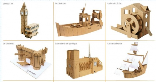 maquette a construire en carton. Black Bedroom Furniture Sets. Home Design Ideas