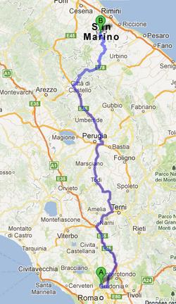 Saint-Marin et retour en France