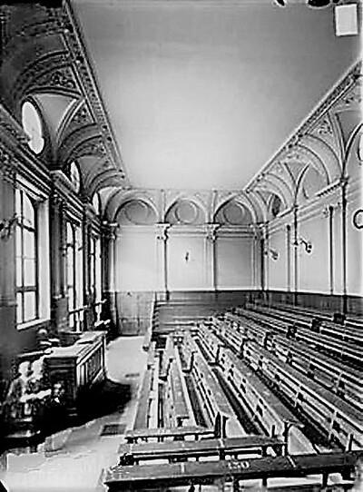 L'ancien amphithéâtre de la Faculté de Droit de Paris (photographie de Charles Marville