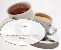 Thé ou café avec Ecureuil Bleu
