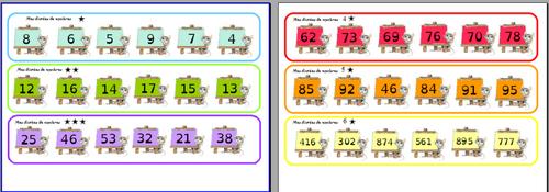 évaluer autrement : écrire des nombres