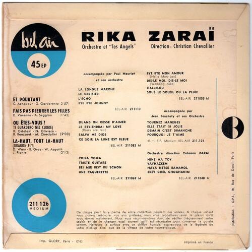 Rika Zarai - Et Pourtant (1964) 02