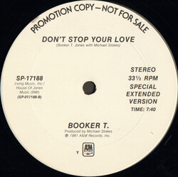 Booker T. - Don't Stop Your Love