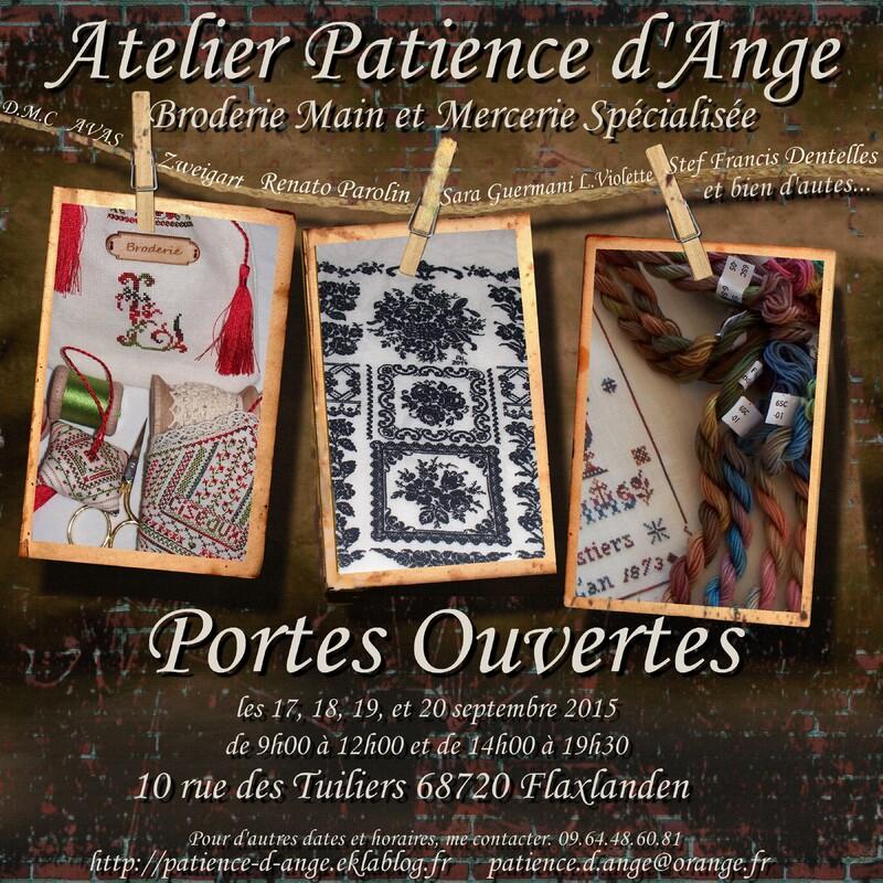 Affiche Portes Ouvertes Atelier Patience d'Ange Angélique LEVY