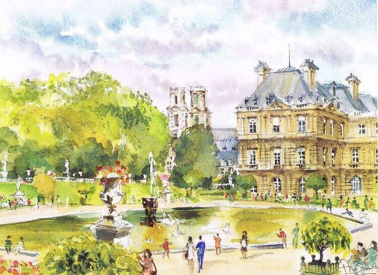 Jean-Marie Simon. Jardin du Luxembourg.