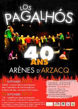 22 septembre 2013 - Invitation aux 40 Ans des Los Pagalhos