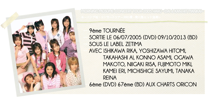 MORNING MUSUME CONCERT TOUR 2005 HARU ~DAI 6 KAN HIT...