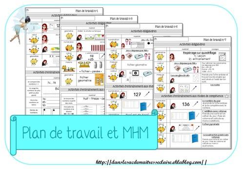 plan de travail et MHM