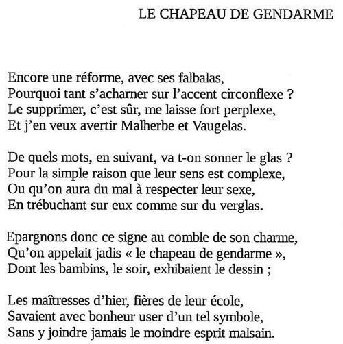 LE CHAPEAU DE GENDARME