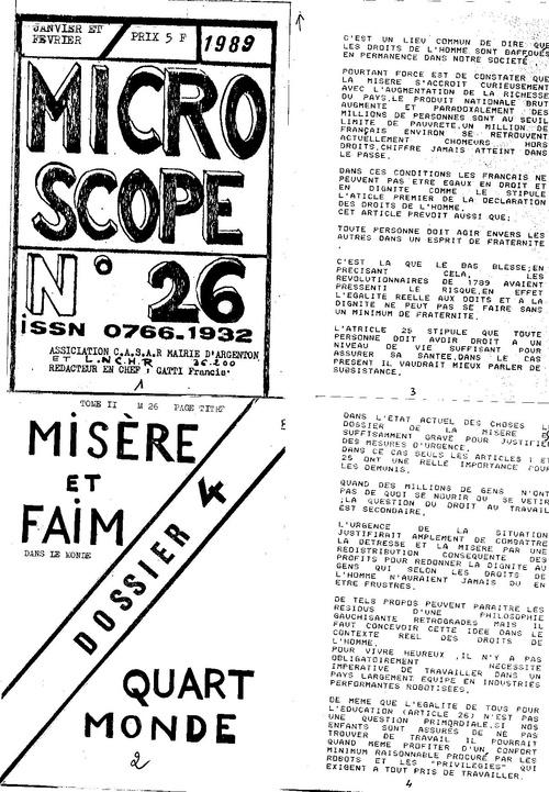 Microscope N°26 MISERE