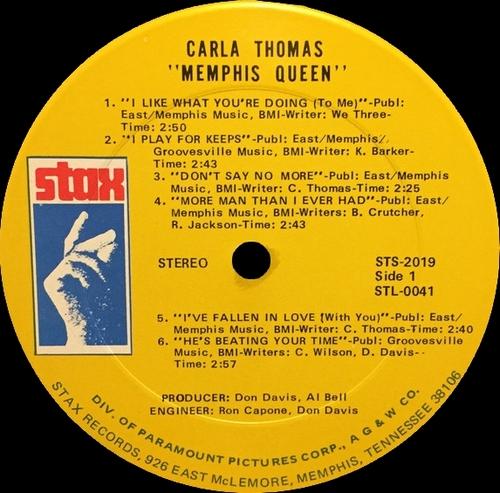"Carla Thomas : Album "" Memphis Queen "" Stax Records STS 2019 [ US ]"