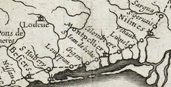 CARTE des POSTEs en 1632