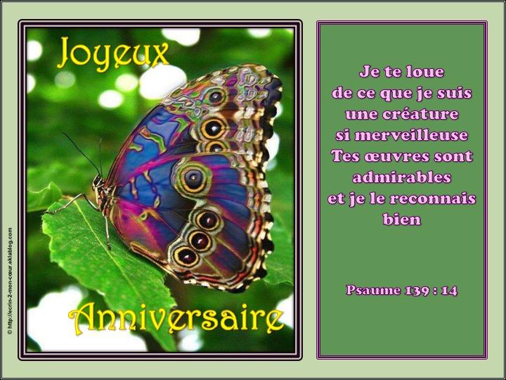 Heureux/Joyeux Anniversaire - Psaumes 139 : 14
