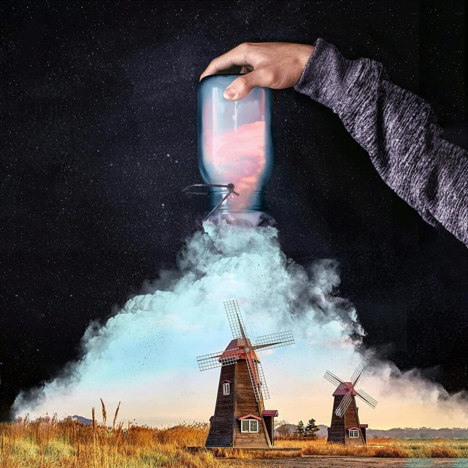photo manipulation windmill