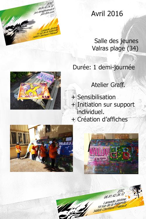 atelier graff, Initiation au graff et a son etat d'esprità  la salle des jeunes de Valras (34) 04/2016 Rigolade et creation super journée. Les photos http://atelier-graff.blogg.org