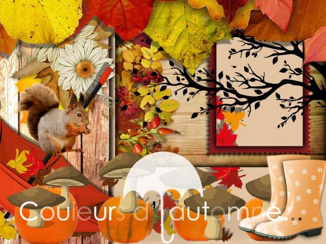 """Kit Digiscrap """"Couleurs d'automne"""""""