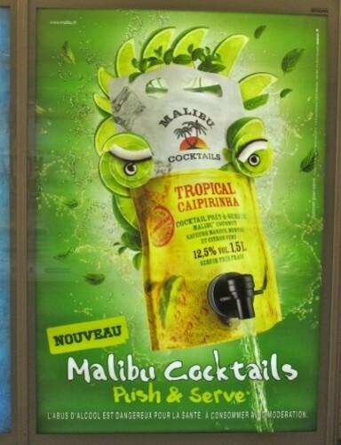 affiche Malibu tropical style Arcimboldo