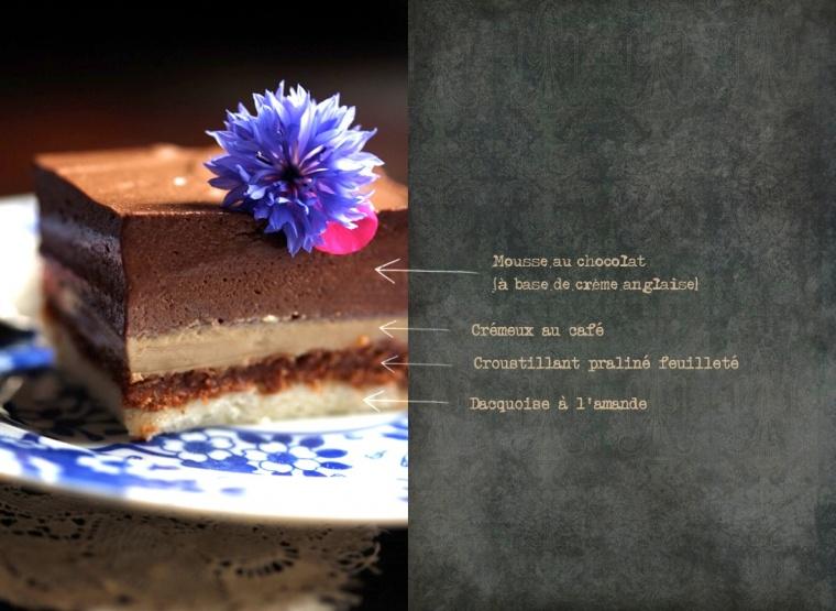Entremets praliné~café~chocolat