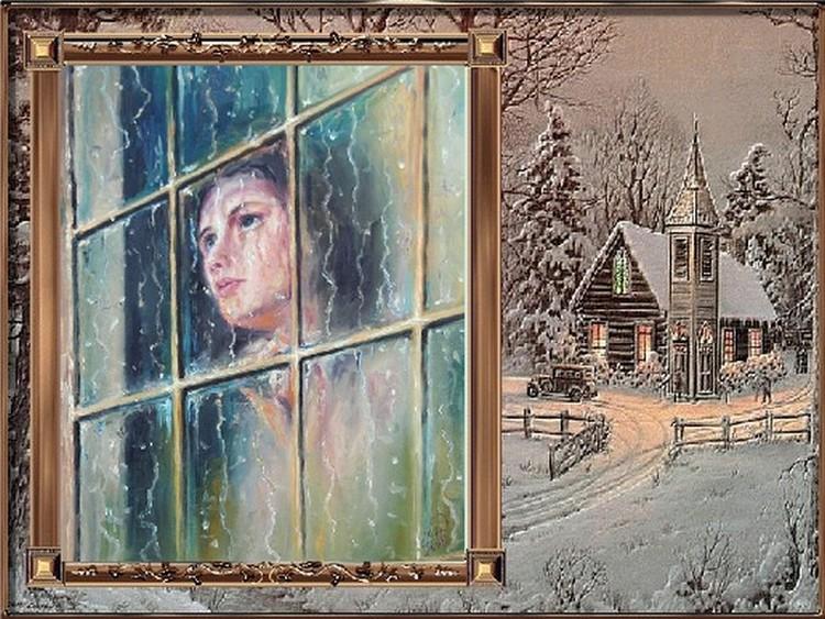 Une fille à la fenêtre...