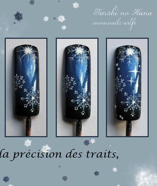 Etoile de neige - NAIL ART 101 - Tenshi No Hanna